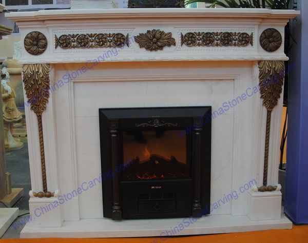 Marble brass fireplace,  ,  ,  ,